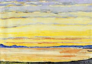 Ferdinand Hodler - Sunset on Lake Geneva