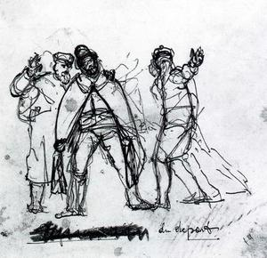 Ferdinand Hodler - The game (three men gesticulating)