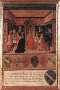 Francesco Di Giorgio Martini - Pope Pius II Names Cardinal His Nephew