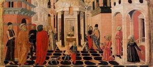 Francesco Di Giorgio Martini - Three scenes from the Life of St. Benedict 1