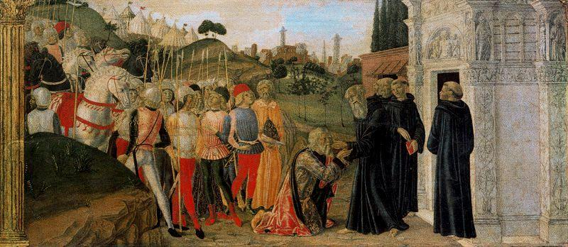 Three scenes from the Life of St. Benedict 3 by Francesco Di Giorgio Martini (1439-1502, Italy) | Art Reproduction | WahooArt.com