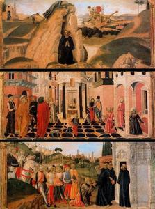 Francesco Di Giorgio Martini - Three scenes from the Life of St. Benedict