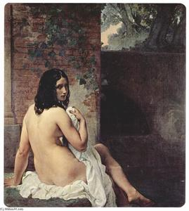 Francesco Hayez - Back view of a bather