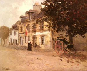 Frits Thaulow - A Village Street in France