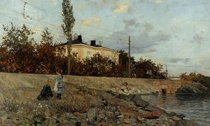 Frits Thaulow - Evening at the Bay of Frogner