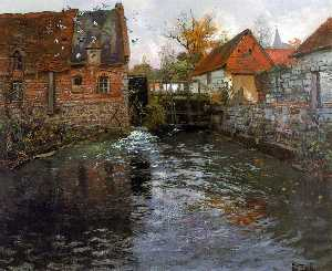 Frits Thaulow - The Mill Pond