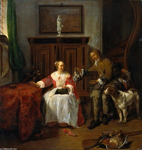 Gabriel Metsu - The Hunter-s Present