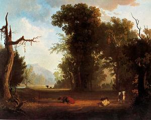 George Caleb Bingham - Landscape with Cattle