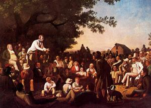 George Caleb Bingham - Stump Speaking or The County Canvas