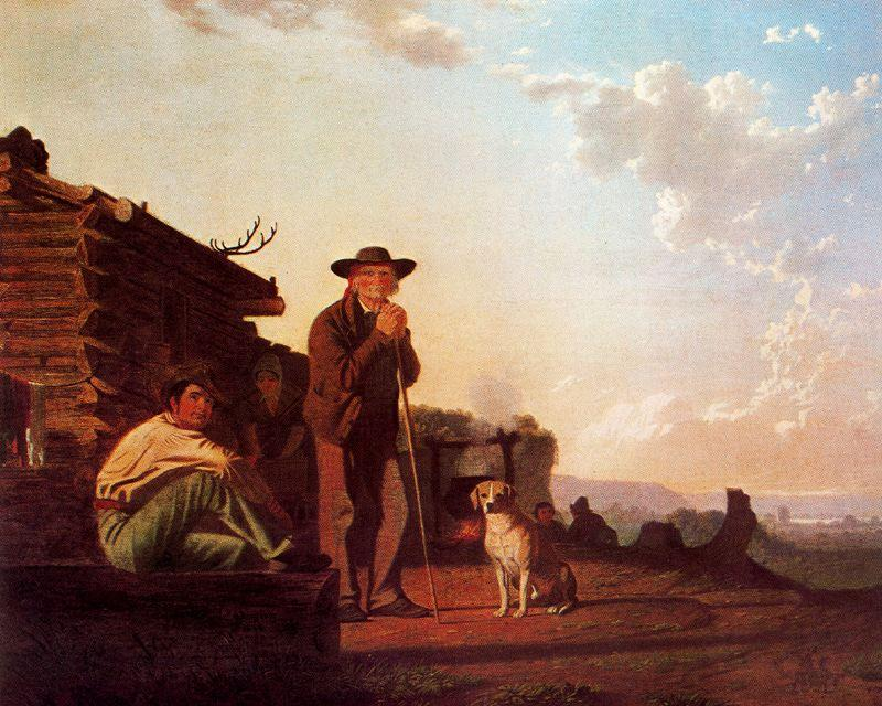 The Squatters, 1850 by George Caleb Bingham (1811-1879, United States) | Museum Art Reproductions George Caleb Bingham | WahooArt.com