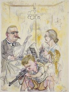 George Grosz - A Little Child Shall Lead Them (Family)