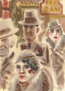 George Grosz - New York Types