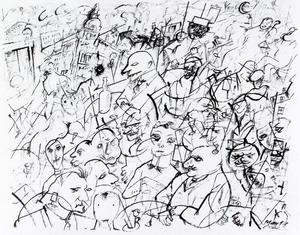George Grosz - People in a cafe