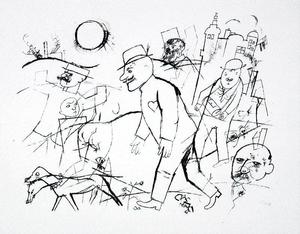 George Grosz - The possessed forest adjunct