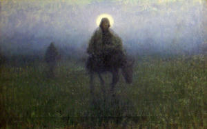 George Hitchcock - Flight into Egypt
