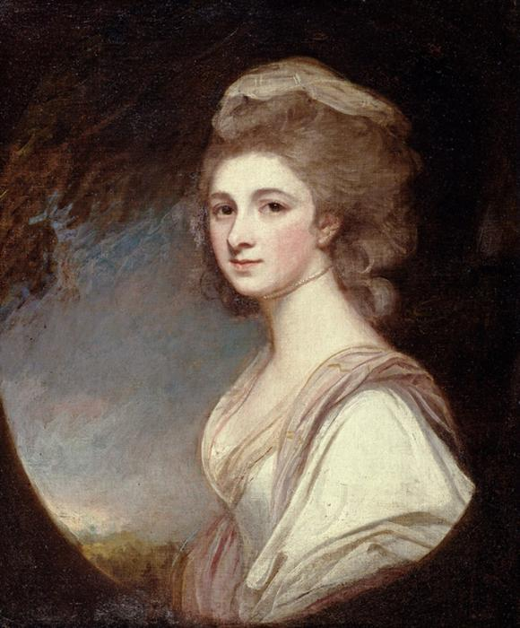 Miss Frances Mary Harford, 1780 by George Romney (1734-1802, United Kingdom) | Art Reproduction | WahooArt.com
