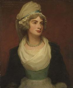 George Romney - PORTRAIT OF GEORGIANA ANNE, LADY TOWNSHEND