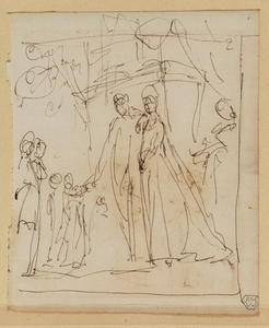 George Romney - Sketch for a group portrait