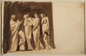 George Romney - Study for -The Vestal Virgins-