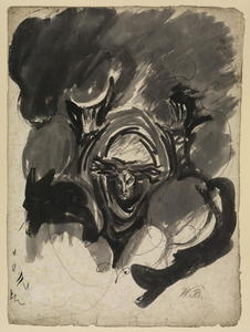 George Romney - Study for a demonic spirit