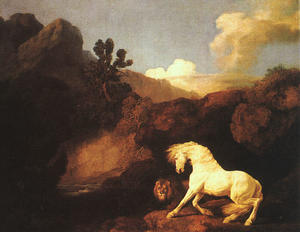 George Stubbs - A Horse Frightened by a Lion