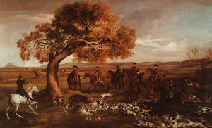 George Stubbs - The Grosvenor Hunt