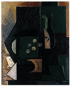 Georges Braque - Bottle and Grapes