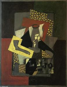 Georges Braque - Glass, Pipe and Newspaper