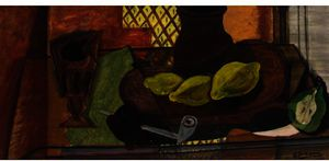 Georges Braque - Glass, Pipe, Lemon and Pear Cut