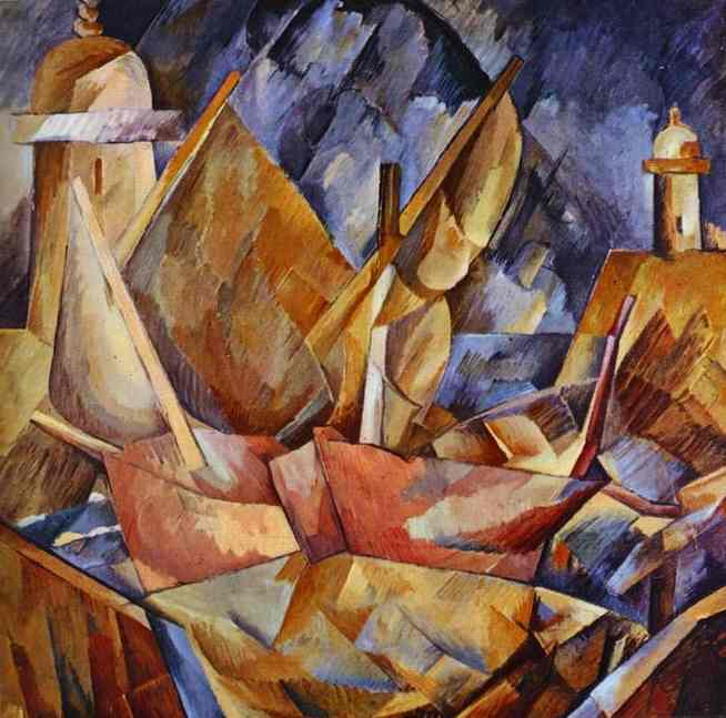 Harbor in Normandy, 1909 by Georges Braque (1882-1963, France) |  | WahooArt.com