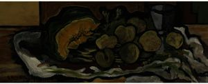 Georges Braque - Melon, Fruits, Glass