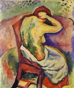 Georges Braque - Nude Woman Seated, back