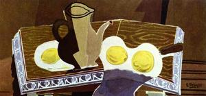 Georges Braque - Pitchet, Glass And Lemons