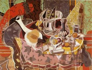 Georges Braque - Still Life with Music Scroll
