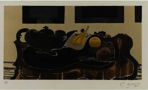 Georges Braque - Teapot and Fruit