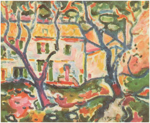 Georges Braque - The House Behind the Trees