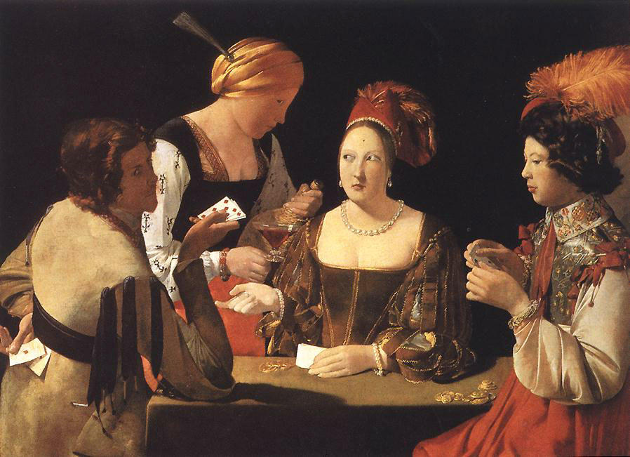 Cheater with the Ace of Diamonds by Georges De La Tour (1593-1652, France) | Painting Copy | WahooArt.com