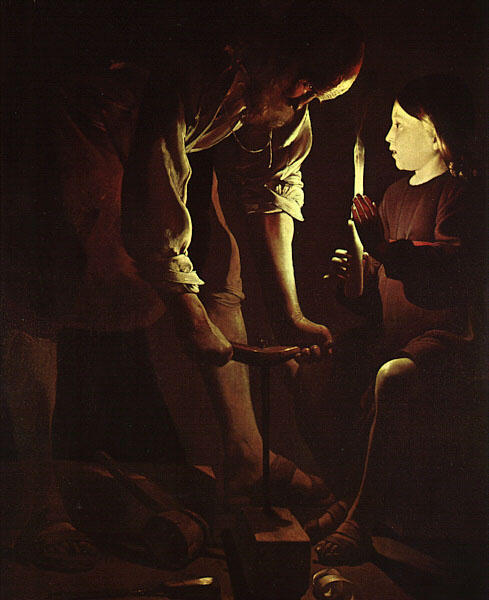 Order Reproductions | Joseph the Carpenter by Georges De La Tour (1593-1652, France) | WahooArt.com