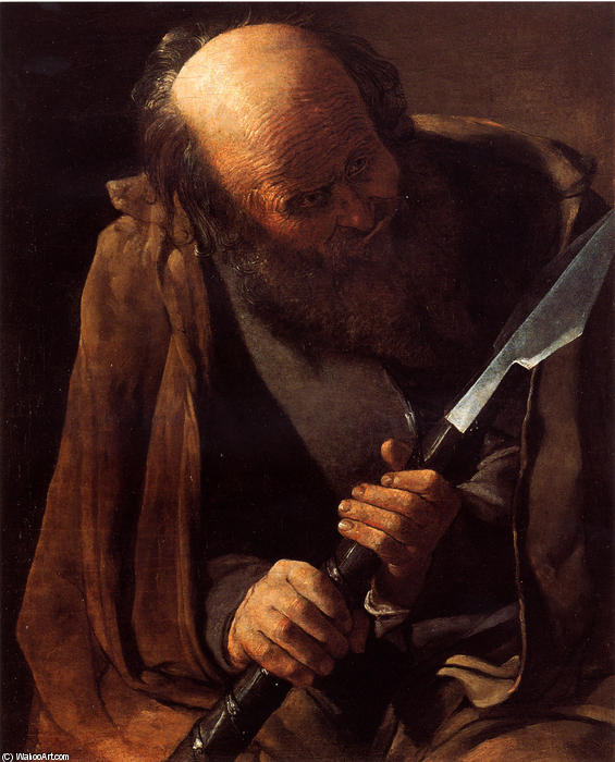 St. Thomas, Oil On Canvas by Georges De La Tour (1593-1652, France)