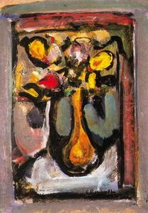 Georges Rouault - Bouquet of yellow flowers in a glass
