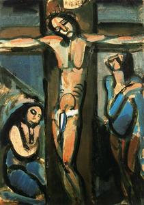 Georges Rouault - Christ on the cross