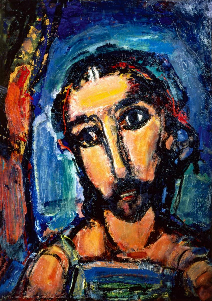 Head of Christ by Georges Rouault (1871-1958, France) |  | WahooArt.com