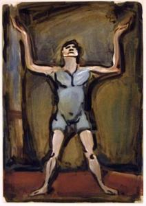 Georges Rouault - Juggler, from the series Cirque de l'Etoile filante