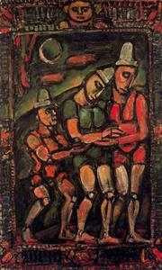 Georges Rouault - The clown hurt