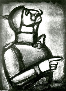 Georges Rouault - The more the heart is noble the less is the neck stiff