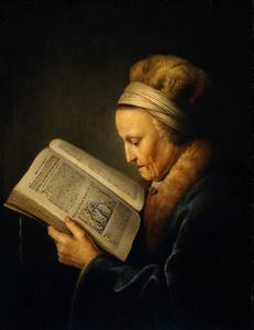 Gerrit (Gérard) Dou - Old Woman Reading a Lectionary