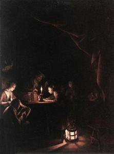 Gerrit Dou - The Evening School
