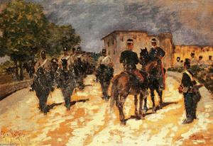 Giovanni Fattori - Marching soldiers 1