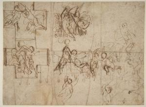 Reni Guido (Le Guide) - Studies of Flying Putti