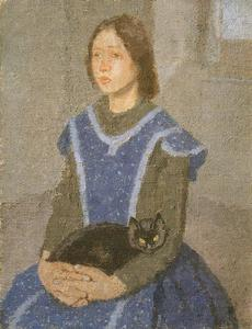 Gwen John - Girl with Cat